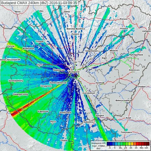 Meteorológiai radarkép (512x512px)