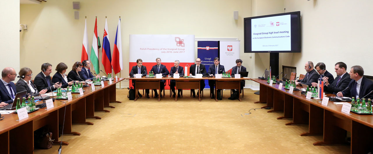Kép az ülésteremből: a V4 országok hírközlésért felelős vezetőinek varsói találkozója